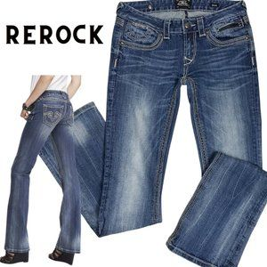 ReRock Express Med Wash Low Rise Boot Cut Jeans 2